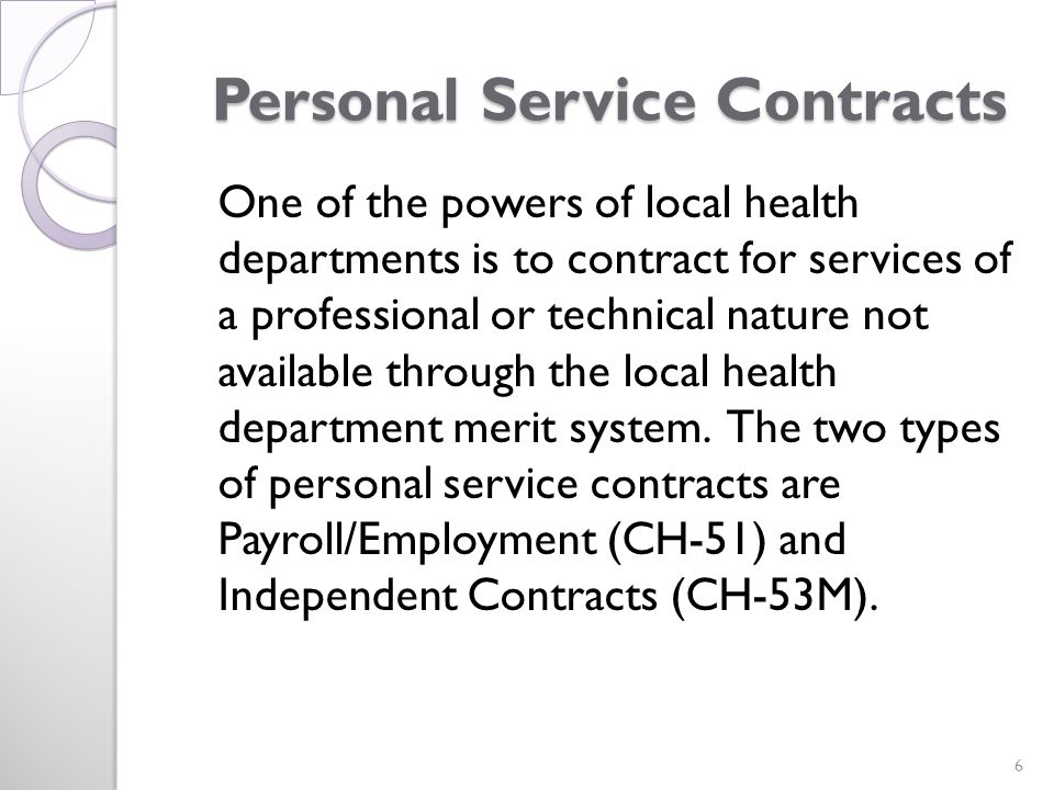 CH-53M Local Health Department Independent Contractor Agreement 7
