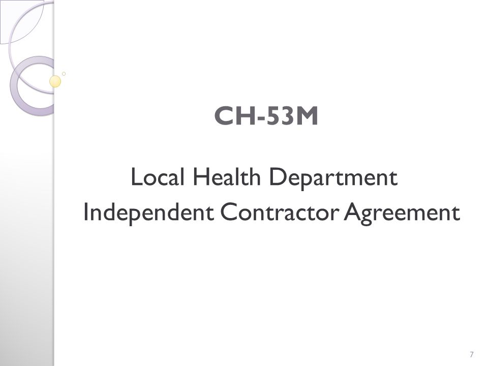 CH-52 Local Health Department Contract to Provide Services 48