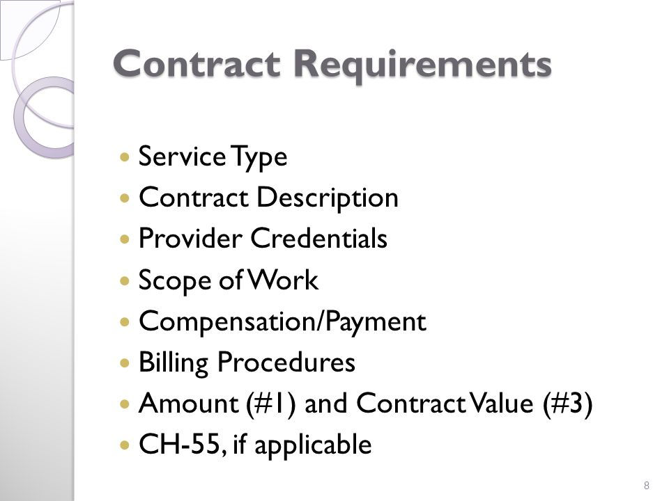 Service Type Examples include, but not limited to: APRN Services, Radiological Services, Lab Services, Interpreter, Physician Services, Administrative Services and Cancer, Family Planning, Prenatal 9