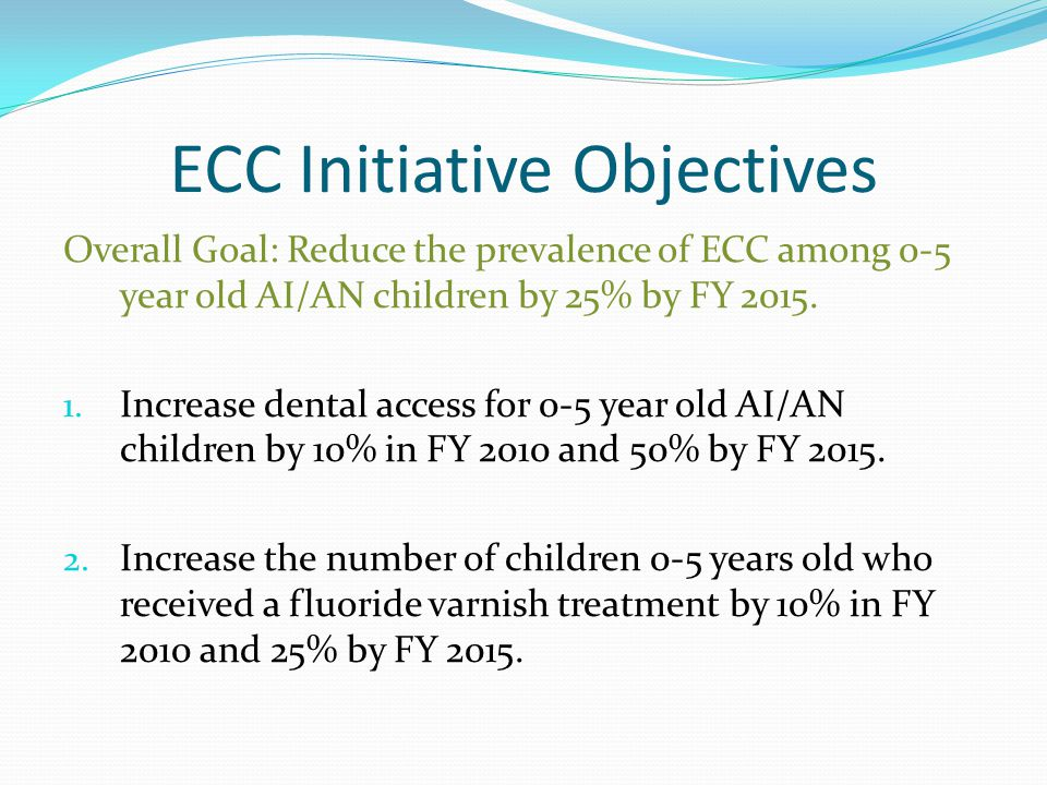 Best Practices 0-2 year olds Oral health assessment soon after the first tooth erupts.