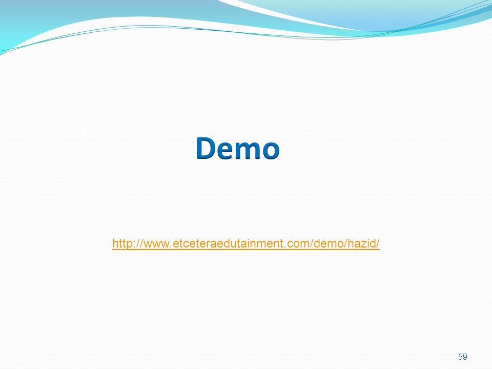 59 http://www.etceteraedutainment.com/demo/hazid/