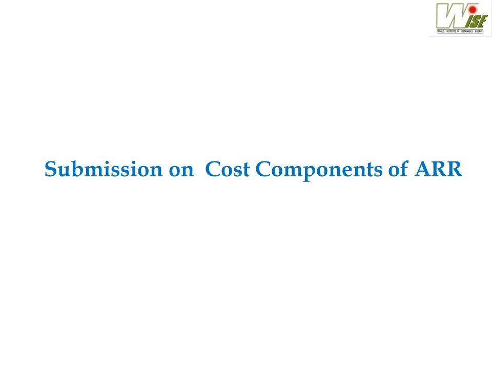 Submission on Cost Components of ARR