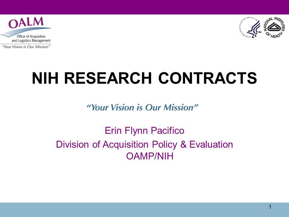 22 R&D Examples  NIH-NICHD-CDBPM-2013-11 (presol): Newborn Screening Translational Research Network  HHS-NIH-NIDA(AG)-RFP-12-169 (solicitation): Baltimore Longitudinal Study of Aging (BLSA) Home Visits Program
