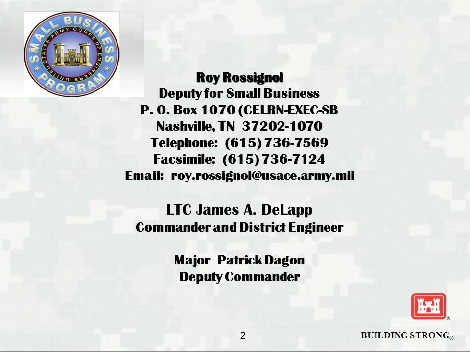 BUILDING STRONG ® Questions/Discussion Serving our Military and the Nation http://www.lrn.usace.army.mil
