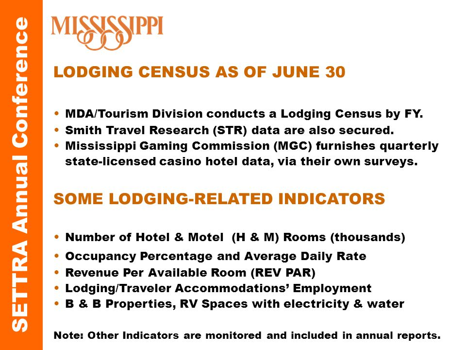 LODGING CENSUS AS OF JUNE 30 MDA/Tourism Division conducts a Lodging Census by FY.