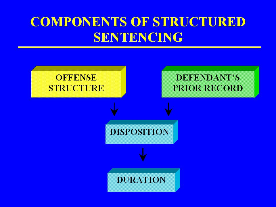 PROCESS FOLLOWED COMPONENTS OF SENTENCING DECISION SUBCOMMITTEES DEVELOPED PROPOSALS