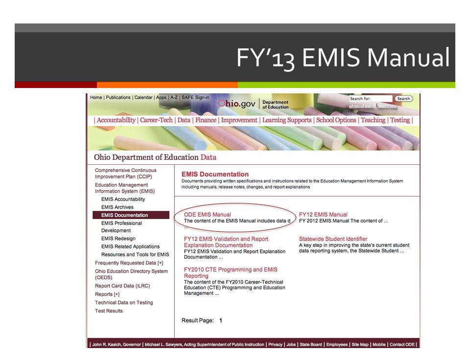 FY'13 EMIS Manual