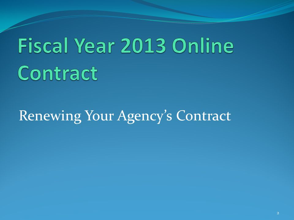 Renewing Your Agency's Contract 2