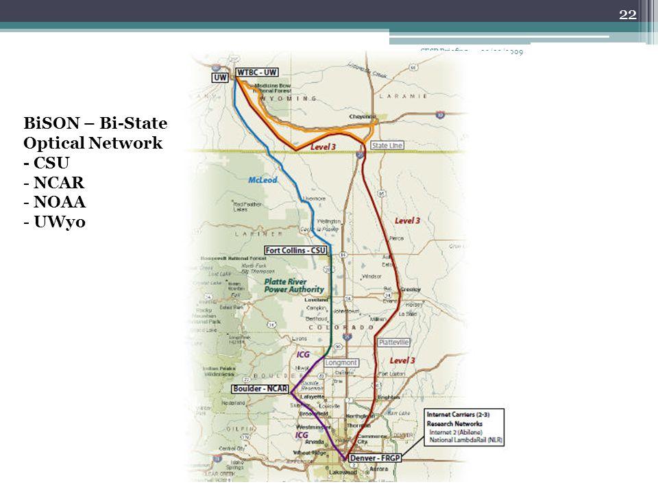 02/03/2009CFSP Briefing 22 BiSON – Bi-State Optical Network - CSU - NCAR - NOAA - UWyo