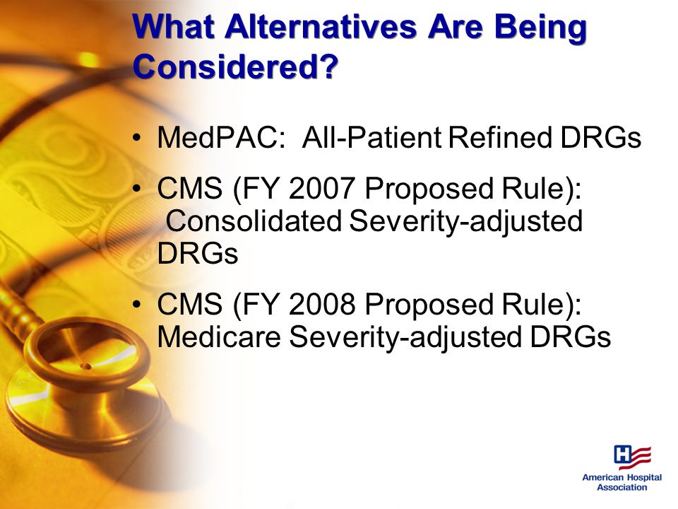 What Alternatives Are Being Considered.