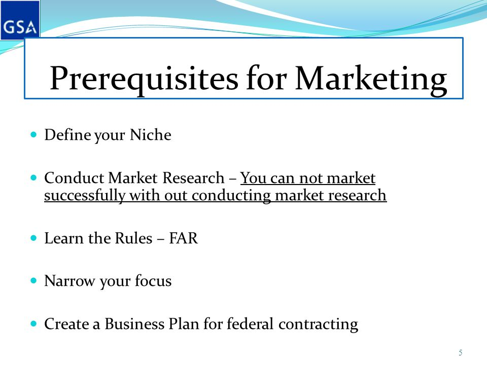 Prerequisites for Marketing Define your Niche Conduct Market Research – You can not market successfully with out conducting market research Learn the