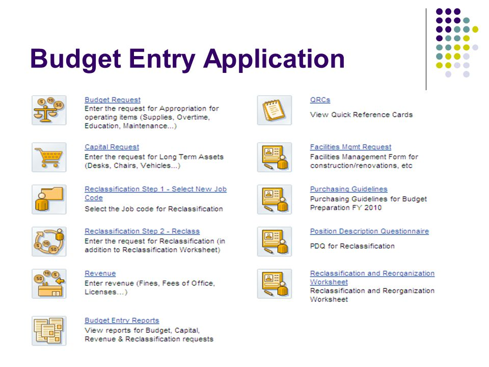 Budget Entry Application