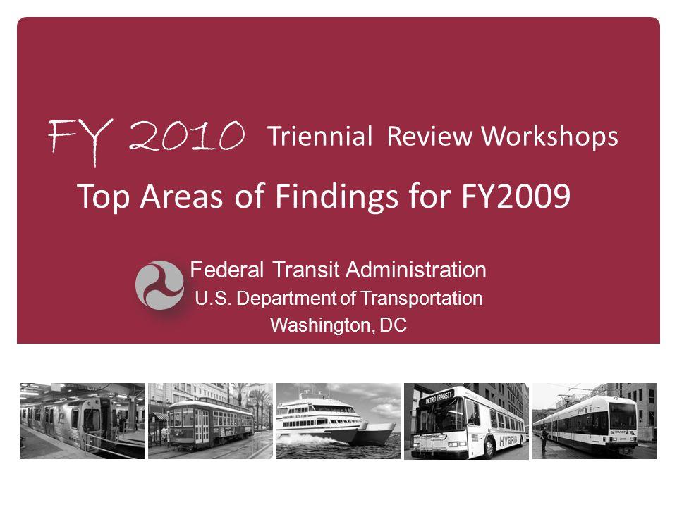 FY 2010 Federal Transit Administration U.S.