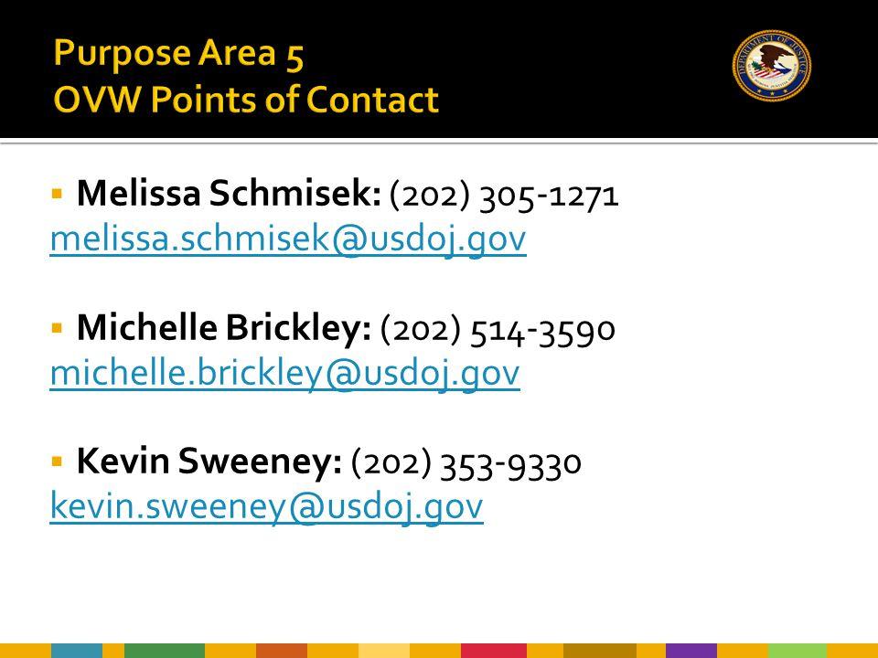  Melissa Schmisek: (202) 305-1271 melissa.schmisek@usdoj.gov  Michelle Brickley: (202) 514-3590 michelle.brickley@usdoj.gov  Kevin Sweeney: (202) 3