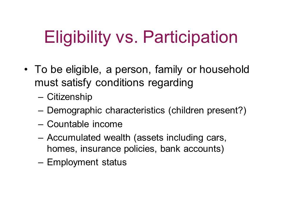 Eligibility vs.