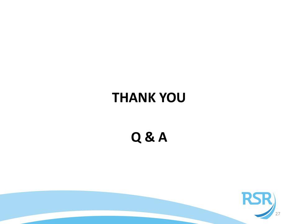 THANK YOU Q & A 27