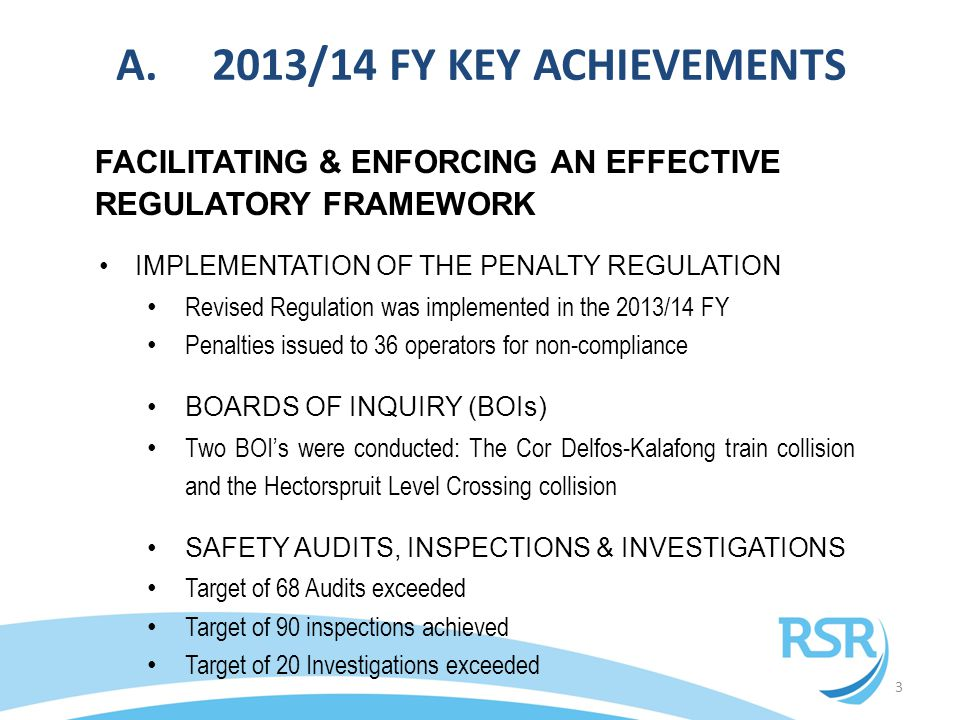 C.2013/14 STATE OF SAFETY – OPERATIONAL OCCURRENCES