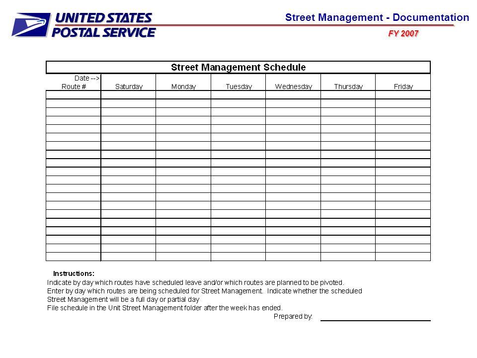 FY 2007 Street Management - Documentation