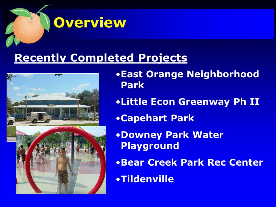Soon to Be Completed Projects Meadow Woods Eastern Regional Park Phase I Cady Way Trail Phase II Overview