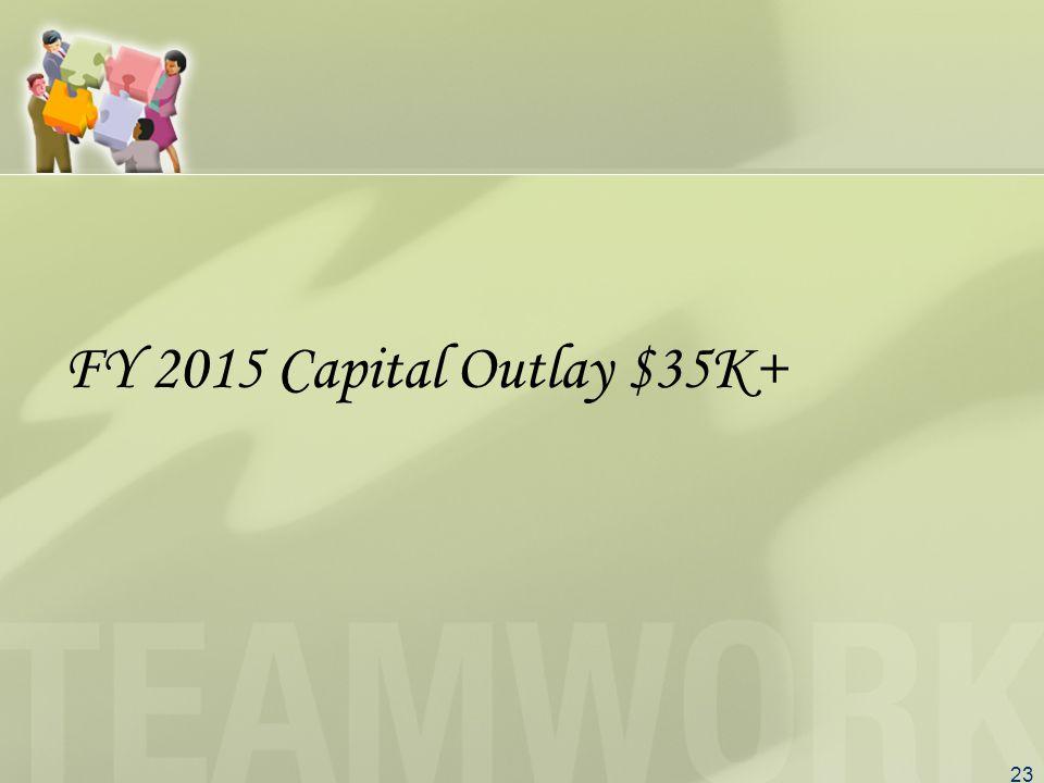 23 FY 2015 Capital Outlay $35K+