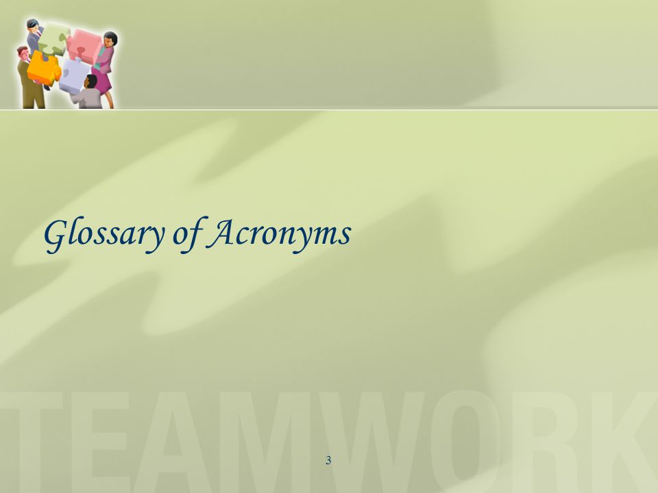 3 Glossary of Acronyms