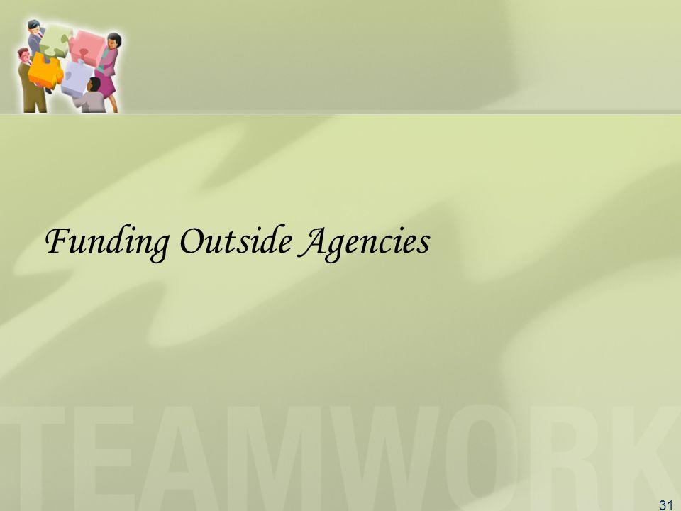 31 Funding Outside Agencies