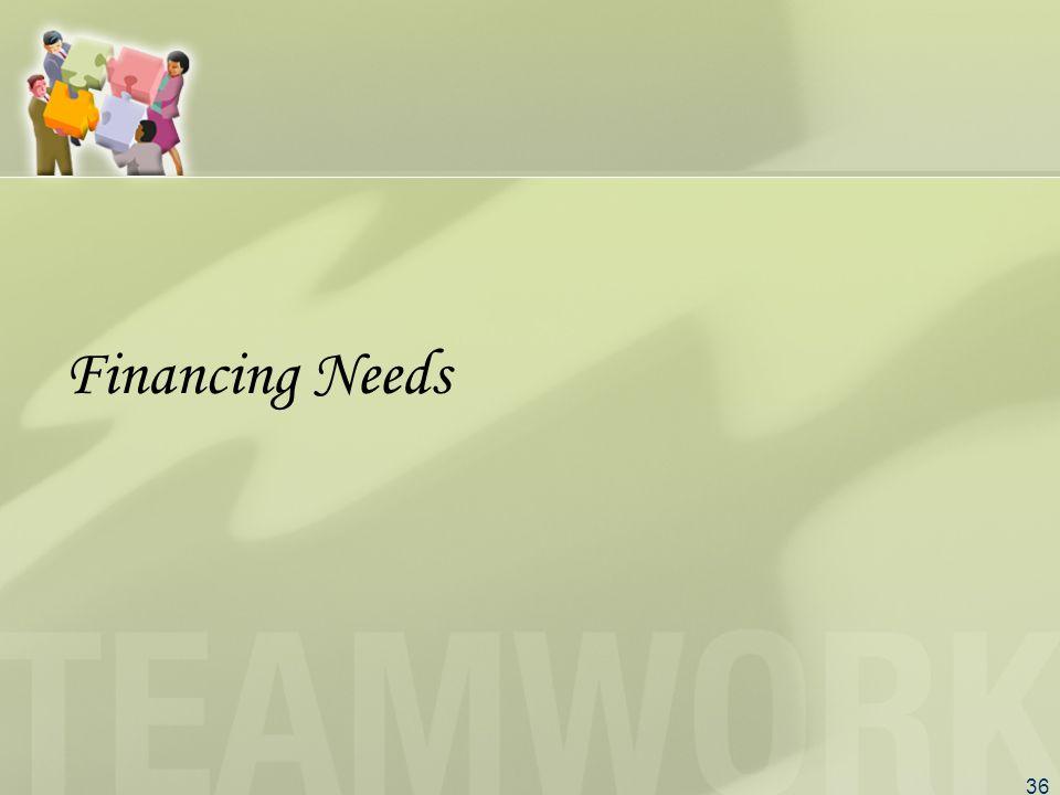 36 Financing Needs