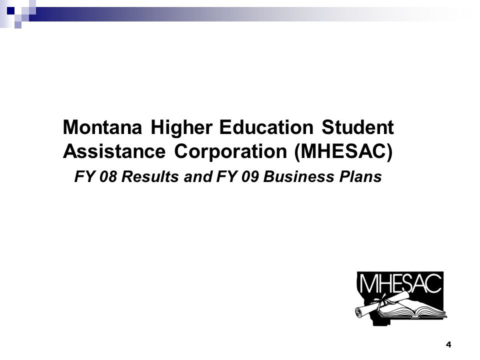 MHESAC FY 08 FFELP Loan Volume MHESAC and its Montana lending partners provided more than $211.8 million in capital for Montana FFELP student loans in FY 08 Stafford - $122.8million – 16,711 borrowers PLUS - $14.2 million – 1,955 borrowers Consolidation – $75.8 million – 2,528 borrowers 5