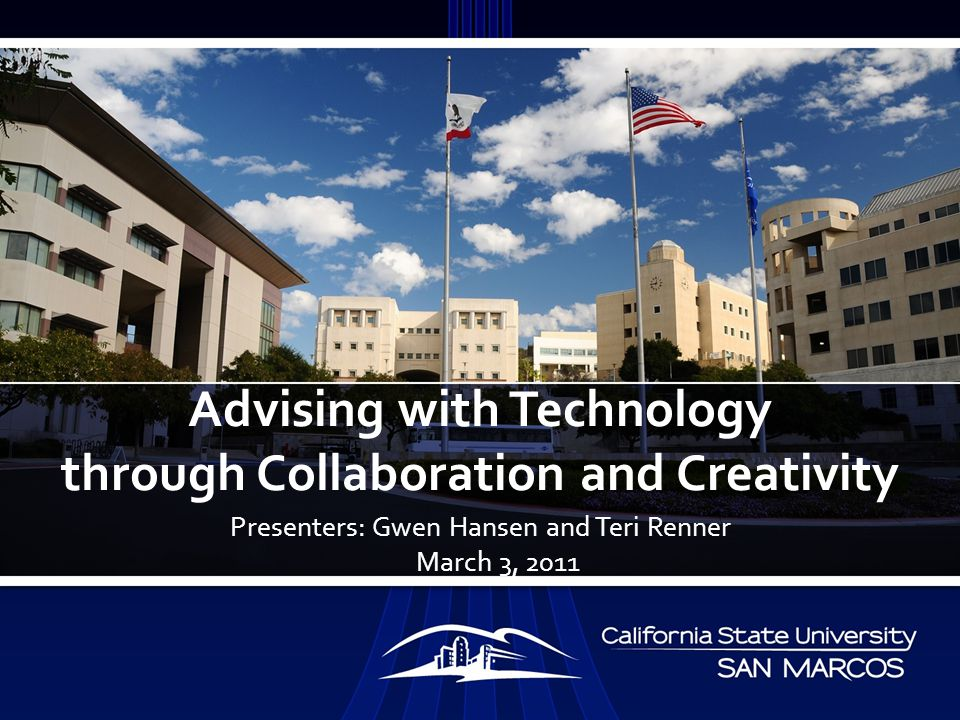 Discuss Collaboration of Departments and Resources to Leverage Cost to Advising Programs Provide Recommendations on Using Multimedia in Advising Provide Recommendations to Reduce Advising Overload Using Multimedia as an Avenue to Support Student Retention OBJECTIVES OF PRESENTATION
