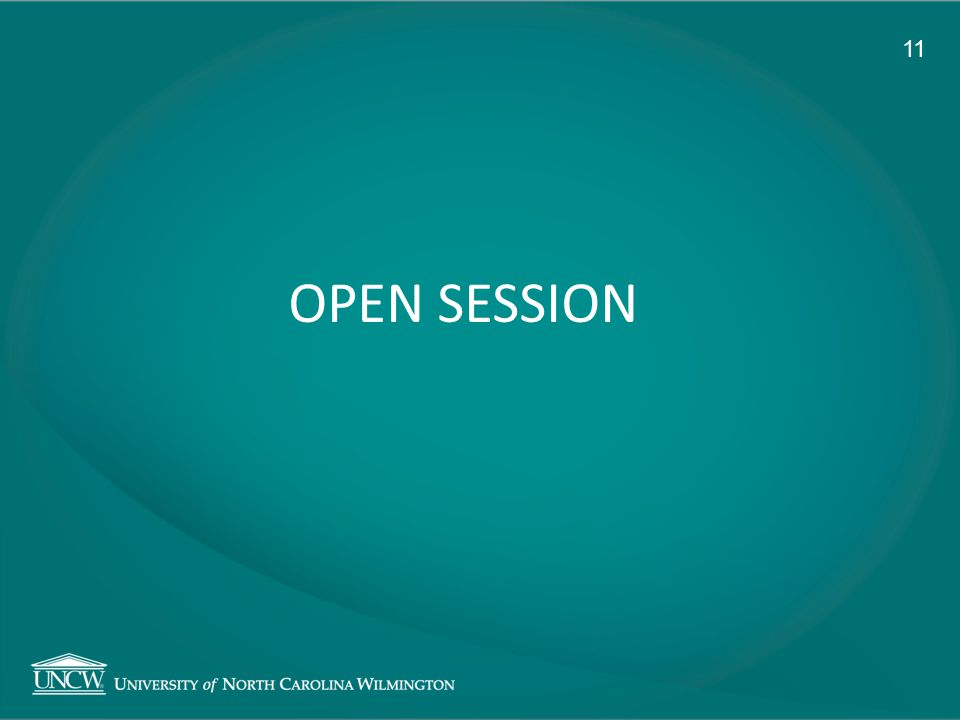 OPEN SESSION 11