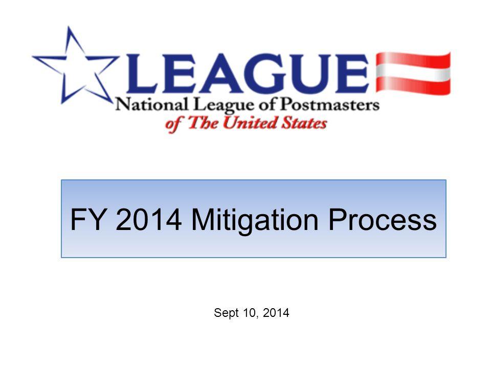 FY 2014 Mitigation Process Sept 10, 2014