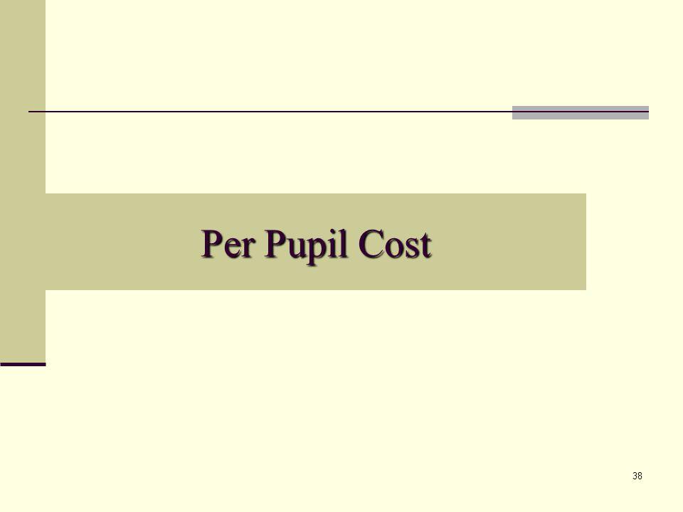 38 Per Pupil Cost