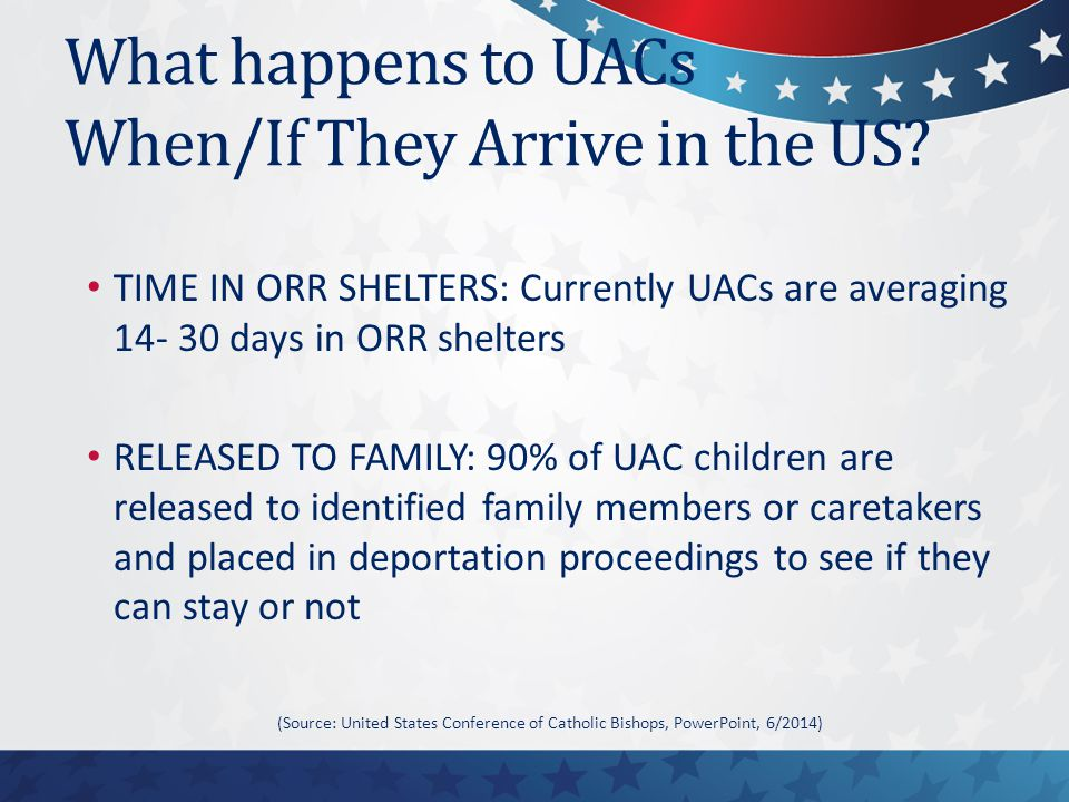 What happens to UACs When/If They Arrive in the US.