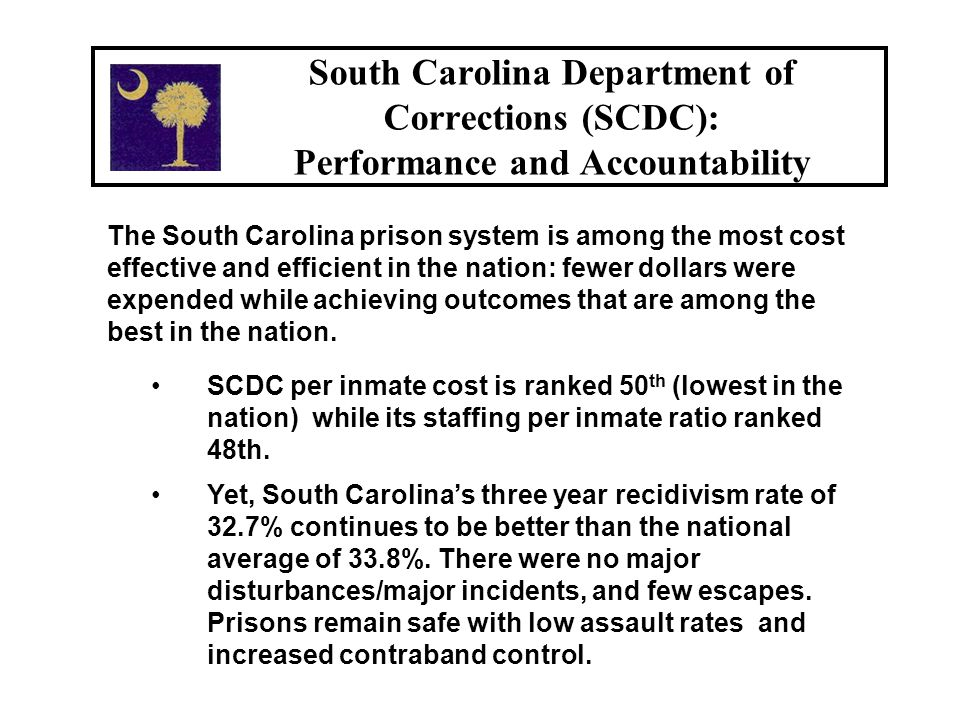 Between June 15, 2001 and June 15, 2006, SCDC's institutional count increased by 1,946 (9%).