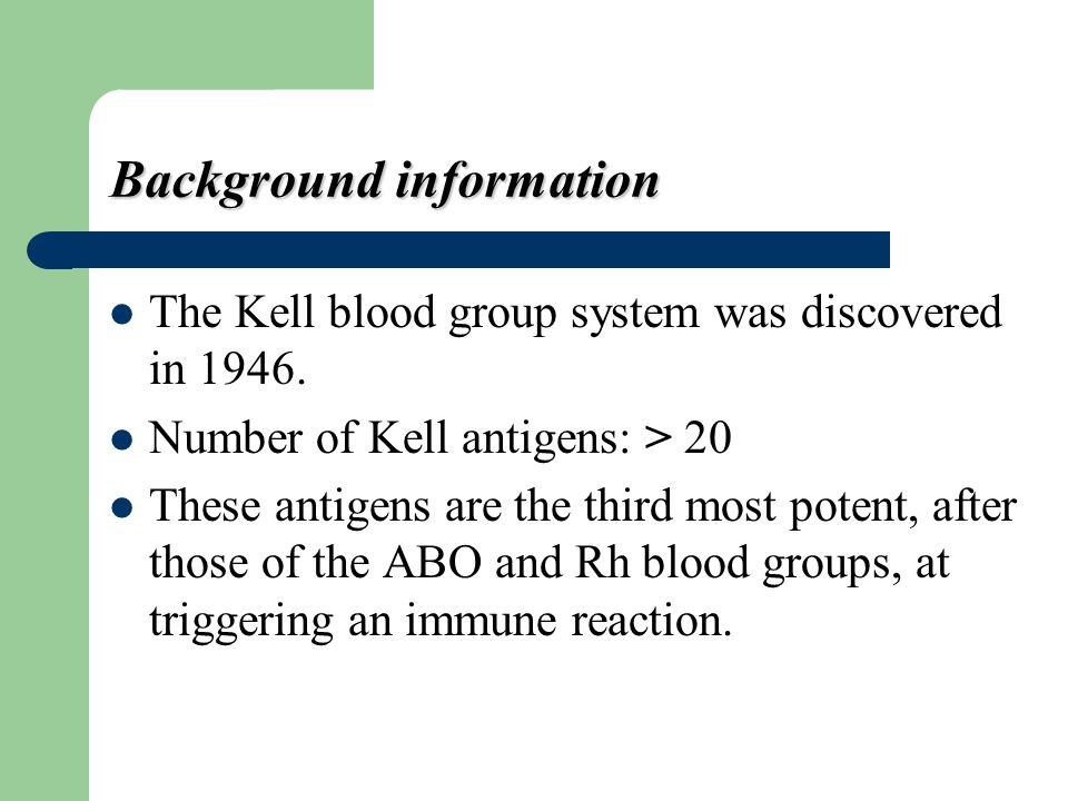 Molecular information The KEL gene is found on chromosome 7 The KEL gene is highly polymorphic, with different alleles at this locus encoding the 25 antigens that define the Kell blood group.