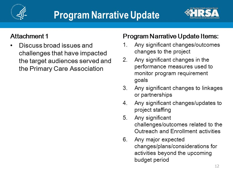 Program Narrative Update Attachment 1 Discuss broad issues and challenges that have impacted the target audiences served and the Primary Care Associat