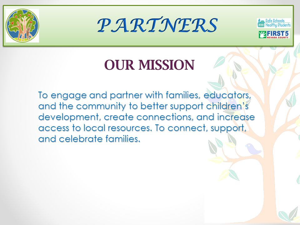 Vision Families are EMPOWERED, RESILIENT, SUPPORTED, and CONNECTED.