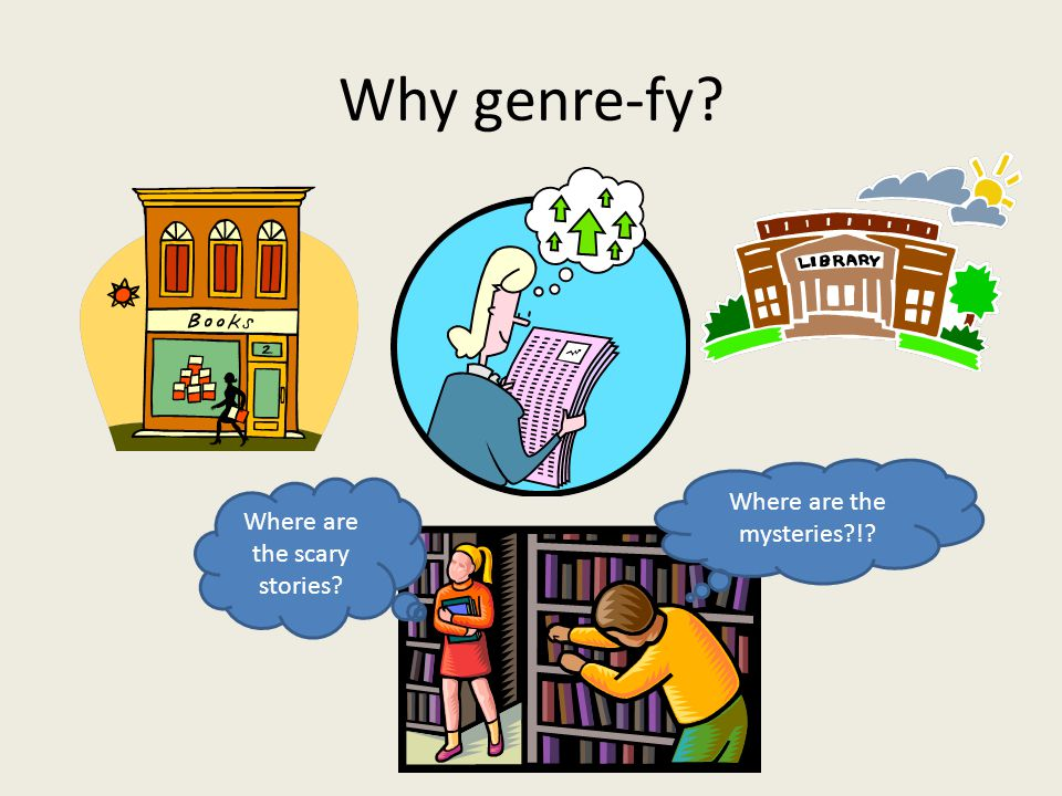 Genre Types PowerPoint 91 slides with definitions and examples of text Freeclub lessons and powerpoints Readerpants Lesson Many books could easily fall into more than one genre category.