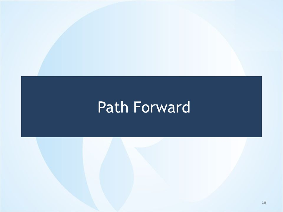 Path Forward 18