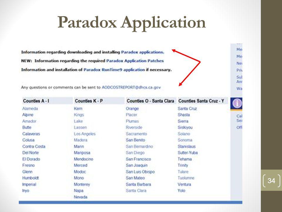 Paradox Application 34