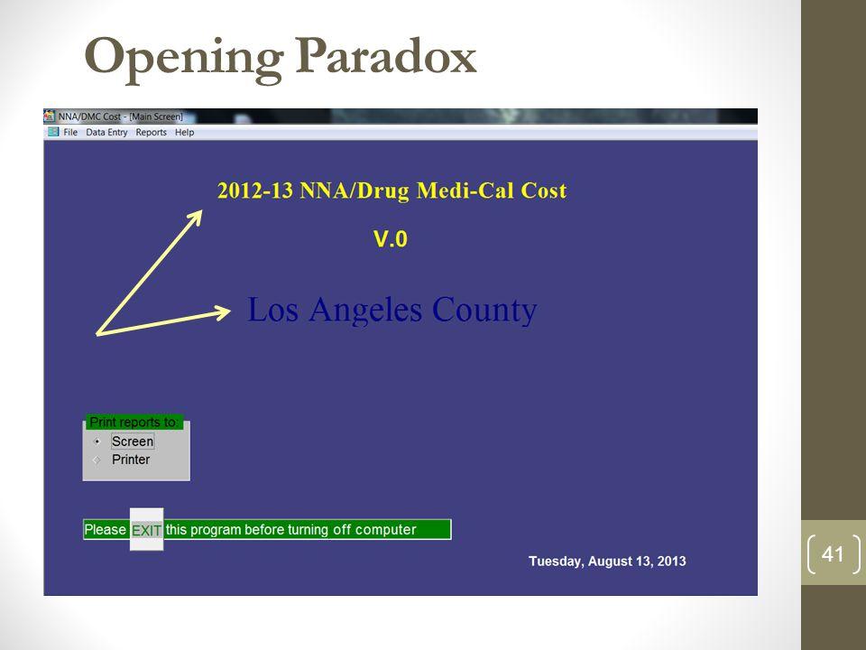 Opening Paradox 41