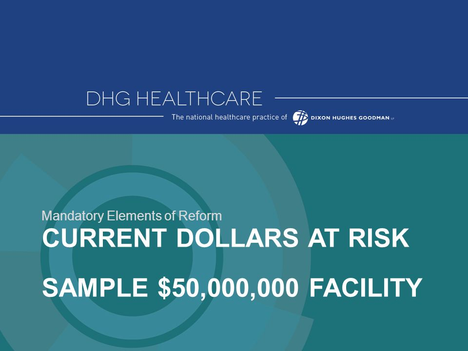 CURRENT DOLLARS AT RISK SAMPLE $50,000,000 FACILITY Mandatory Elements of Reform