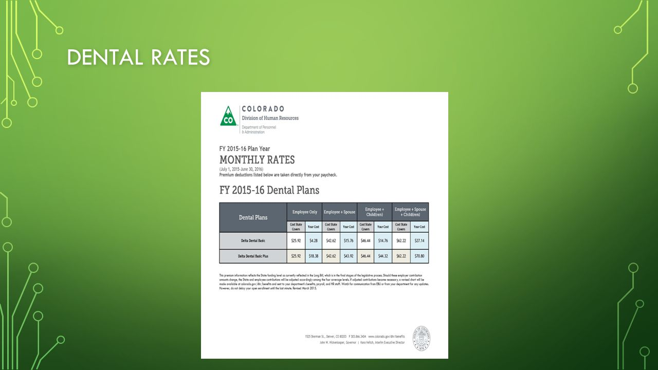 DENTAL RATES