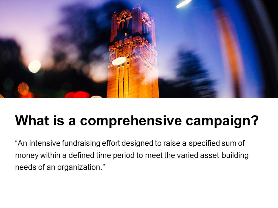 What is a comprehensive campaign.