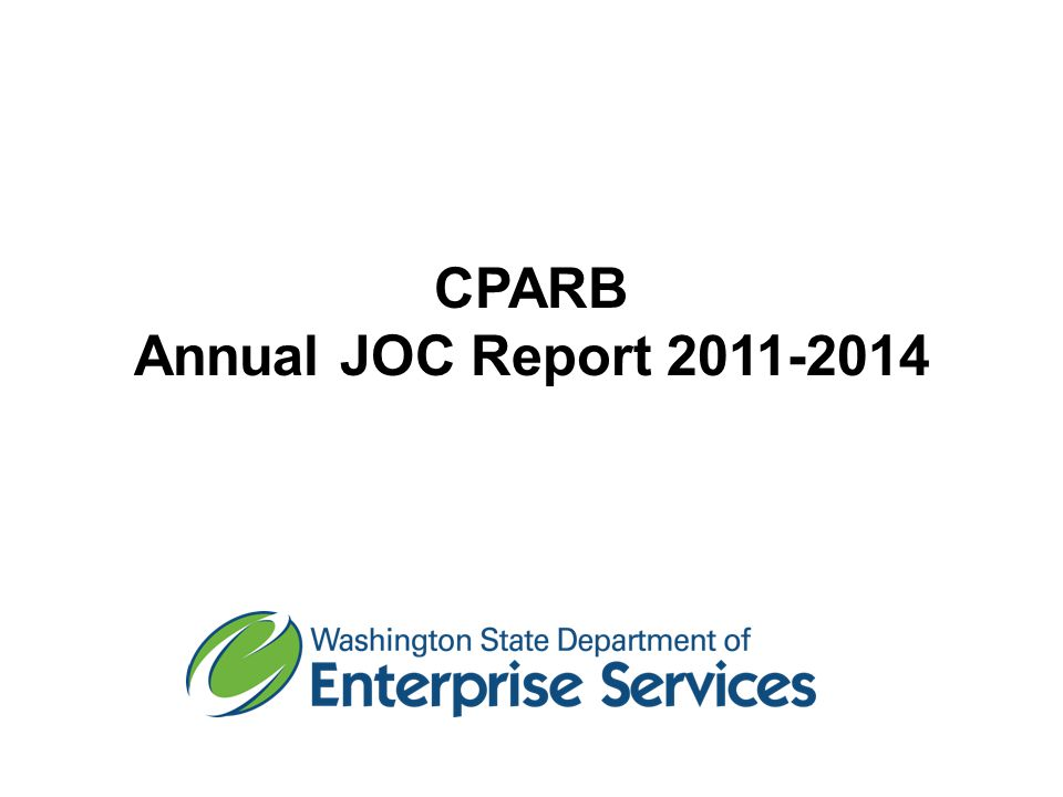 CPARB Annual JOC Report 2011-2014