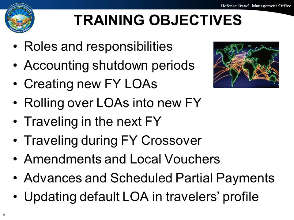 Defense Travel Management Office Office of the Under Secretary of Defense (Personnel and Readiness) DEFAULT OPTION: SELECT LOAS 17