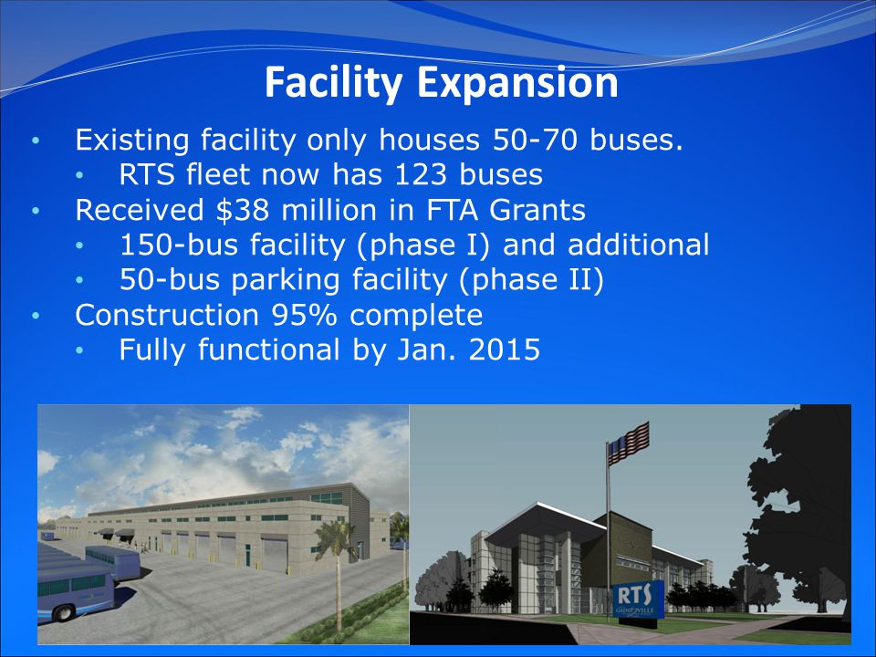 25 Existing facility only houses 50-70 buses.