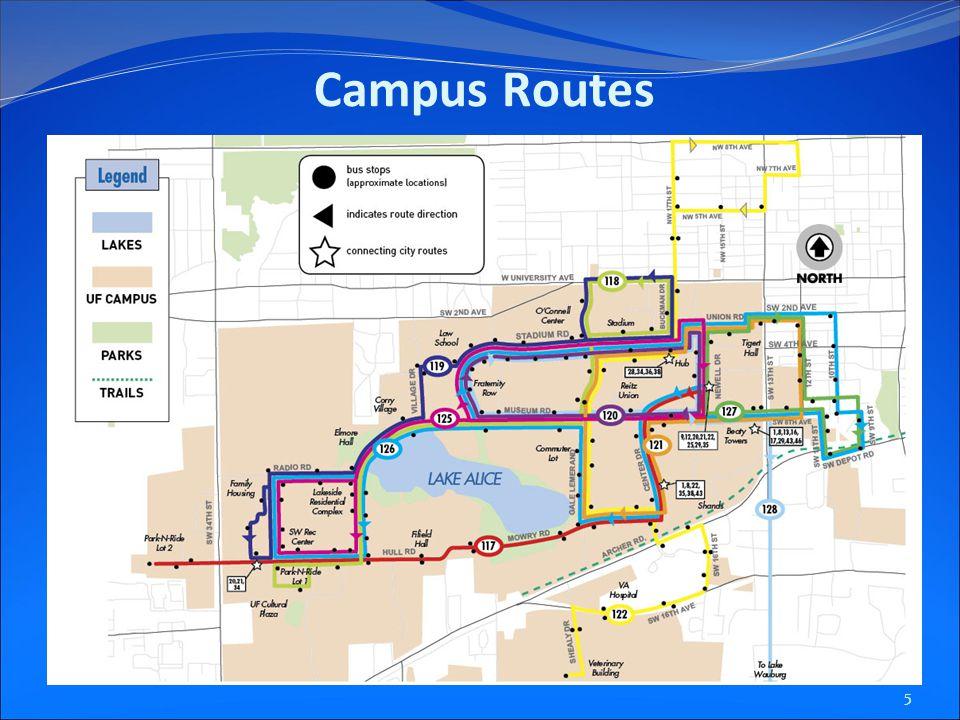 5 Campus Routes
