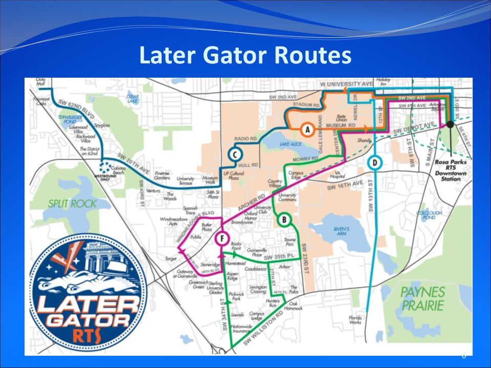 Later Gator Routes 6
