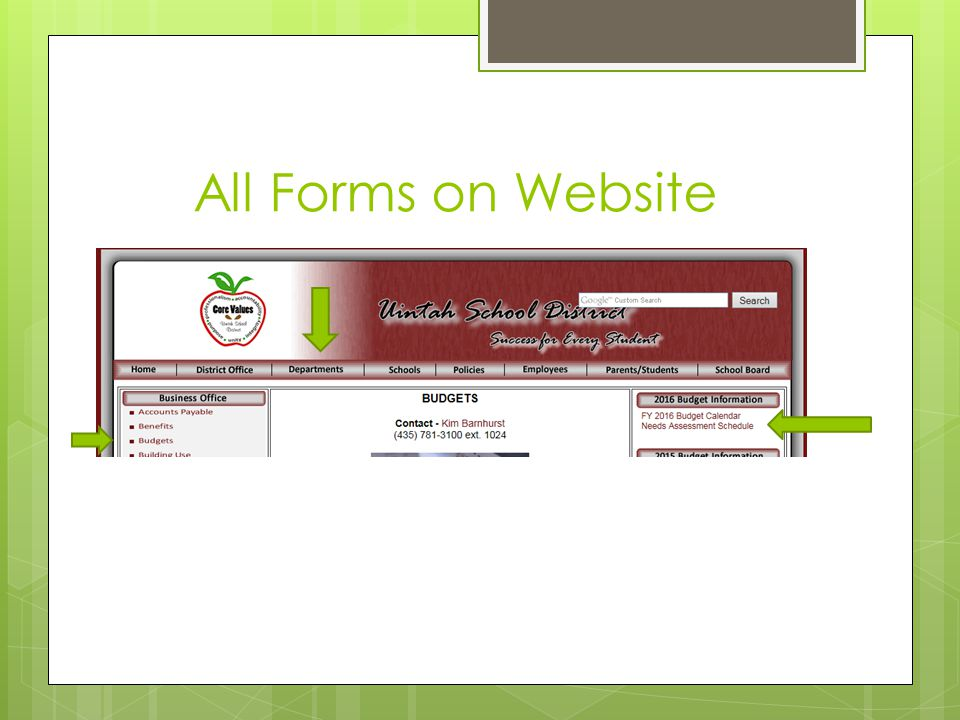 All Forms on Website